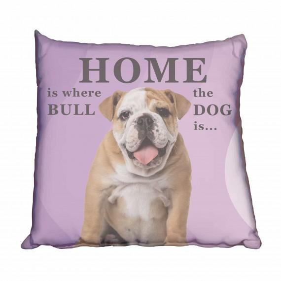 Bulldog Puppy Girl Scatter Cushion