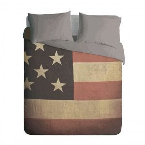 Grunge USA Flag Duvet Cover Set