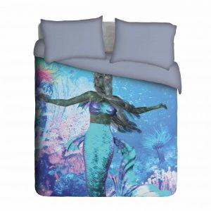 Mermaid under the Sea Duvet Cover Set
