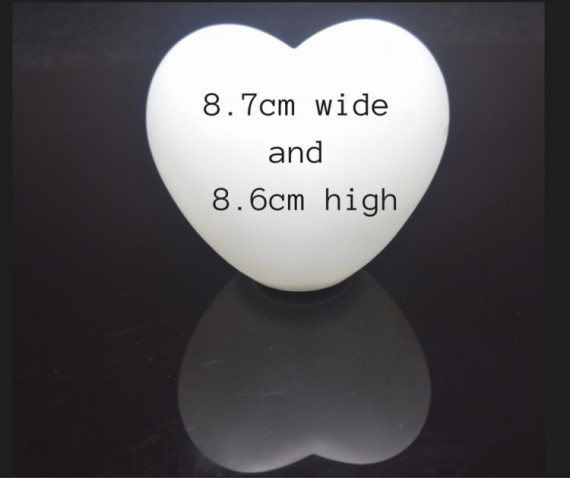 Heart shaped floating orb measurements