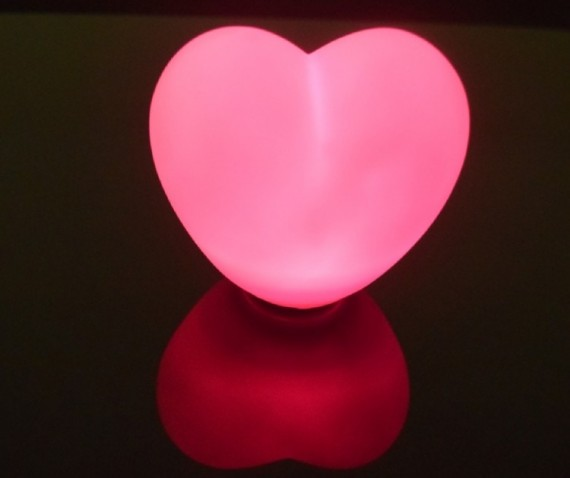 Heart shaped floating orb..