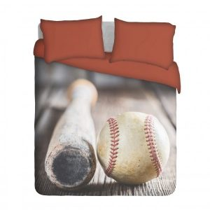 Baseball Bat and Ball Duvet Cover Set