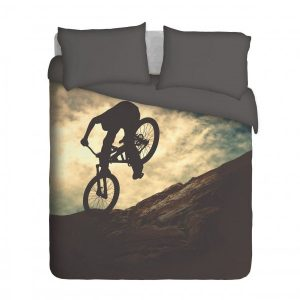 Mountain Biker Duvet Cover Set