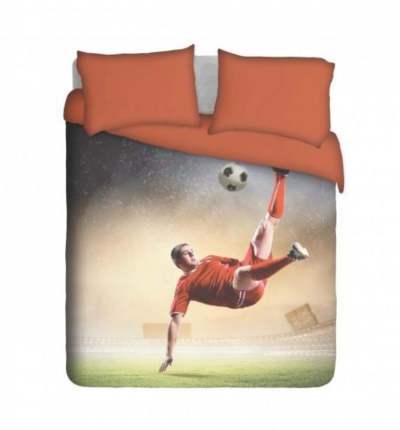 Action Soccer Player Duvet Cover Set