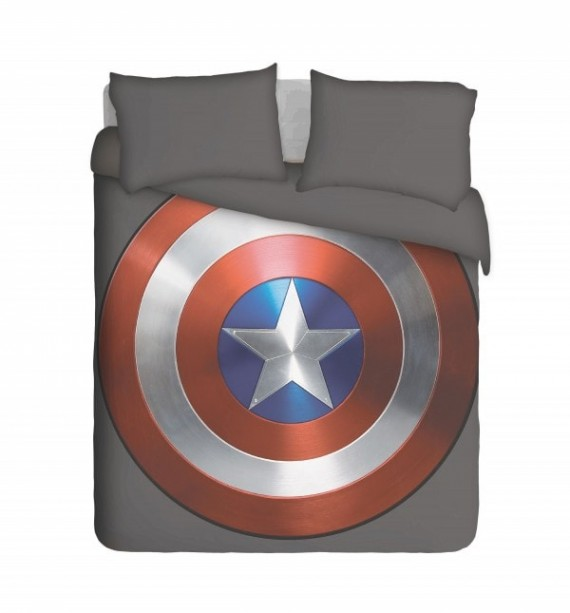 Captain America Shield Duvet Cover Set