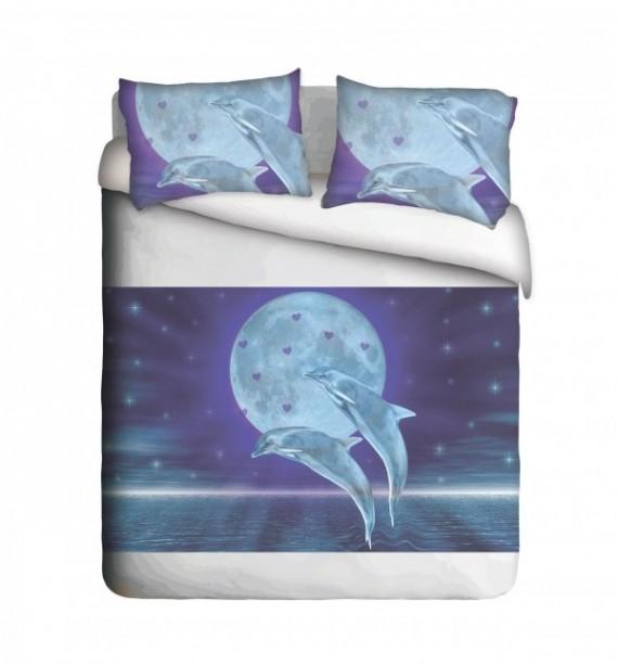 Dolphin & Moon Duvet Cover Set