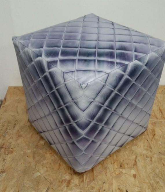 Geometric Ottoman Slip Cover