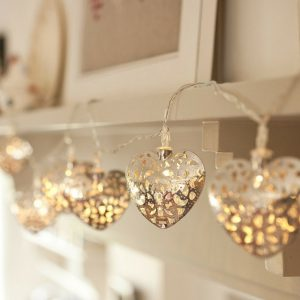Filigree Heart Light String