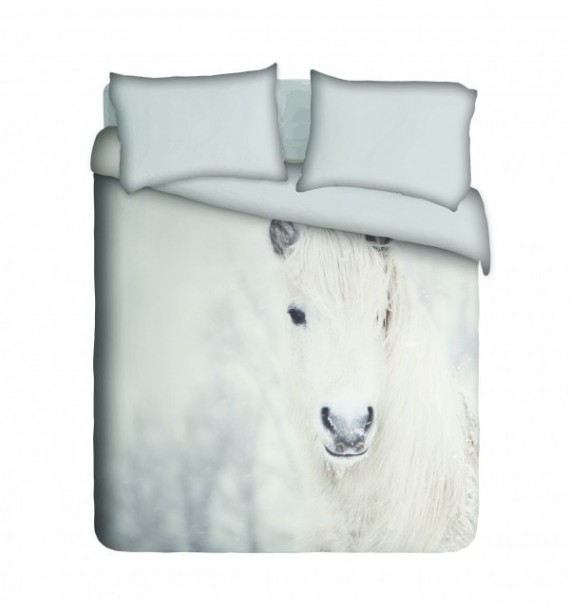 Snow Horse Duvet Cover Set