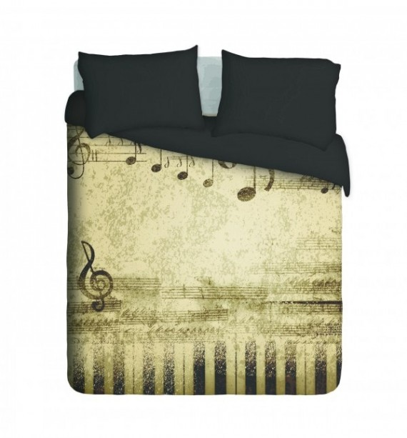 Music Notes Duvet Cover Set