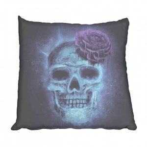 Skull and Rose electric blue Scatter
