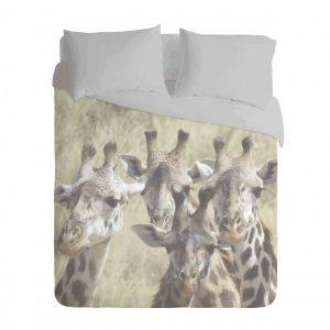 African Giraffe Duvet Cover Set