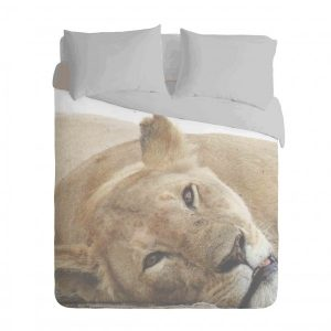 African Lioness Duvet Cover Set