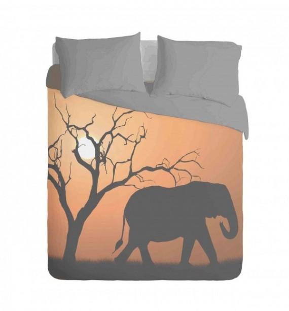 African Elephant Duvet Cover Set