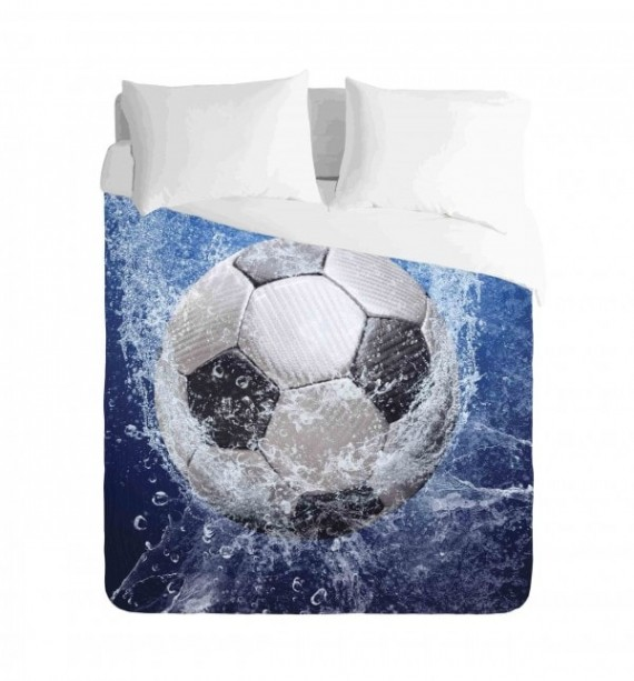 Soccer Ball and Water Duvet Cover Set