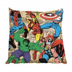 Superheroes Comic Scatter Cushion