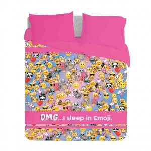 OMG I sleep in Emoji Duvet Cover Set