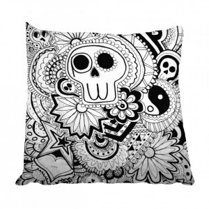 Skull Mexican Monochrome Scatter