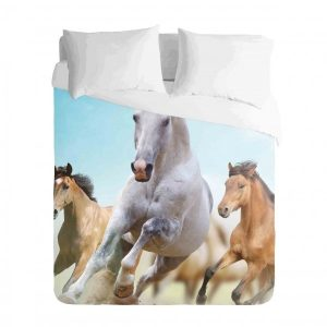 Horses Running Free Duvet Cover Set