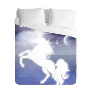 Unicorn and Night Sky Duvet Cover Set