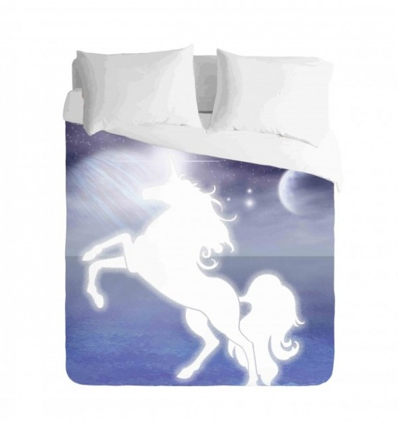 Unicorn and Night Sky Duvet Cover Set