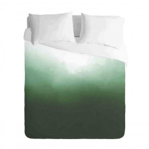 Ombre Teal watercolor Duvet