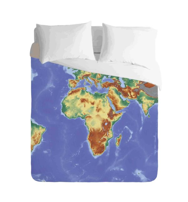 World Map Africa Duvet
