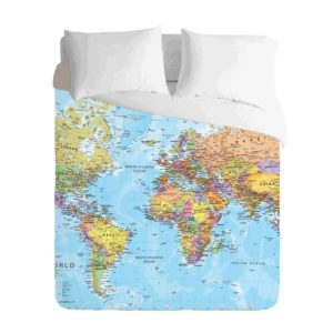 World Map Classic Duvet