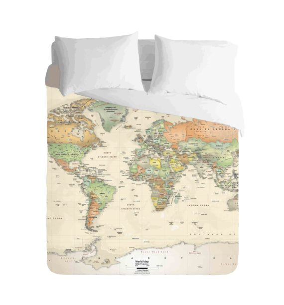 World Map Geographical Duvet