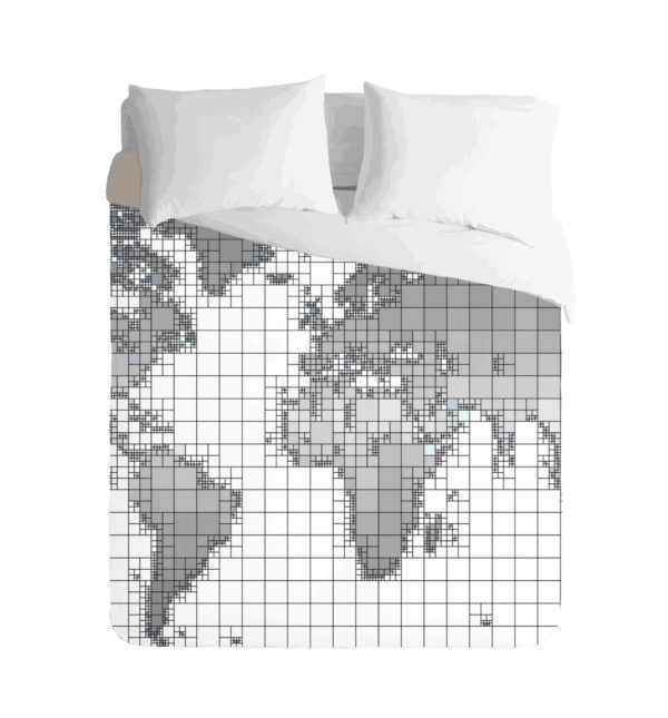 World Map Monochrome Duvet