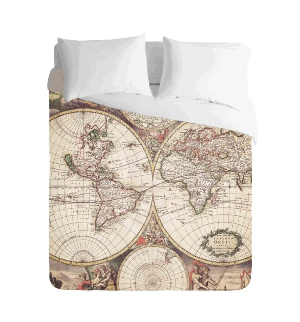 World Map Vintage Duvet