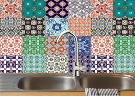 brilliant brights DIY decorative tiles 1