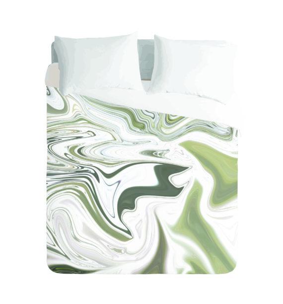 Khaki Marble Duvet Cover Set by Imaginate