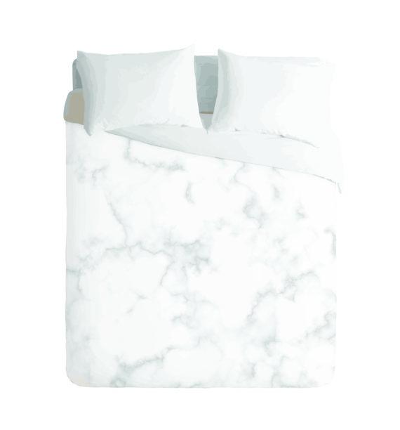 White Marble Duvet Cover Set