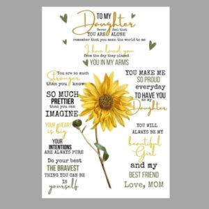 To my Daughter, Love Mom Sunflower Quote Blanket