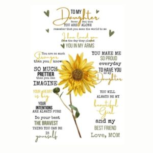 To my Daughter, love Mom sunflower quote blanket.