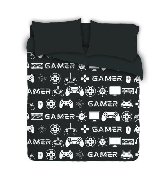 Gaming Crazy duvet Cover Set - Black & White